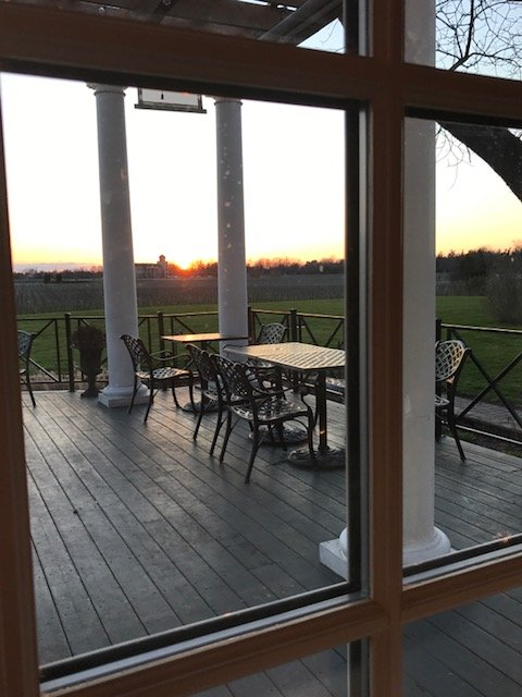Who doesn't like a sunset on a patio?